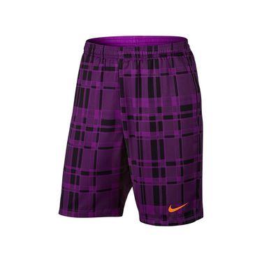 Nike Dry Court 9 Inch Plaid Short - Vivid Purple