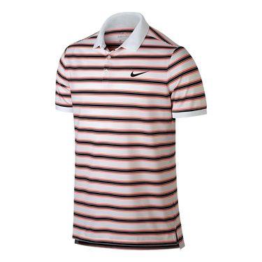 Nike Dry Striped Pique Polo - White