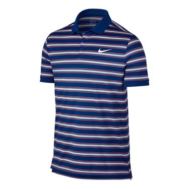 Nike Dry Striped Pique Polo - Blue Jay