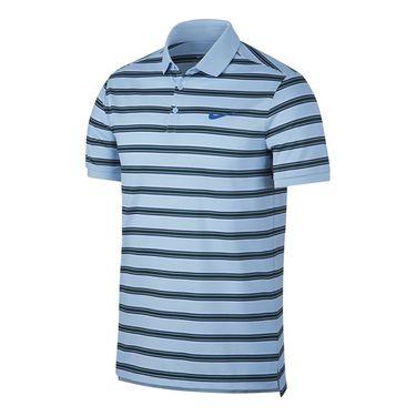 Nike Dry Striped Pique Polo - Hydrogen Blue