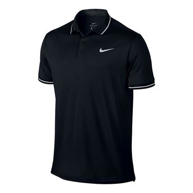 Nike Court Dry Solid Polo - Black