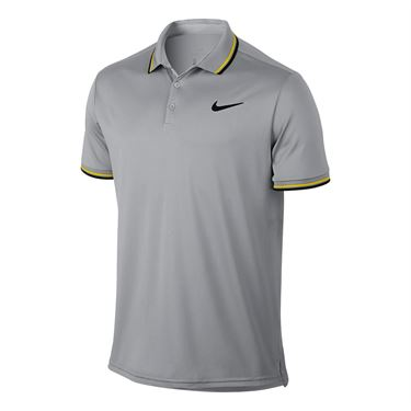 Nike Court Dry Solid Polo - Vast Grey/Black