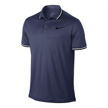 Nike Court Dry Solid Polo - Blue Recall/Black