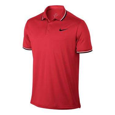 Nike Court Dry Solid Polo - Action Red