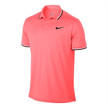 Nike Court Dry Solid Polo - Lava Glow/Black