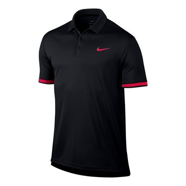 Nike Court Dry Team Polo - Black/Racer Pink