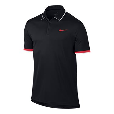 Nike Court Dry Team Polo - Black/Action Red