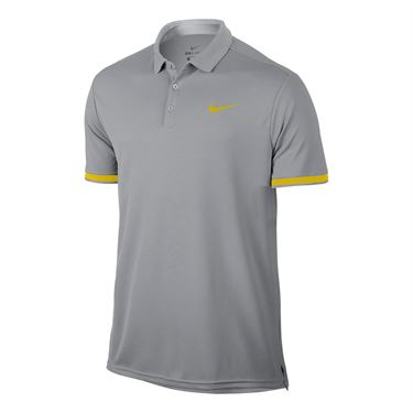 Nike Court Dry Team Polo - Vast Grey/Bright Citron