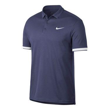 Nike Court Dry Team Polo - Blue Recall/White