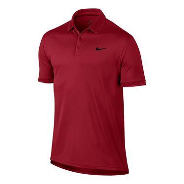 Nike Court Dry Team Polo - Gym Red/Black