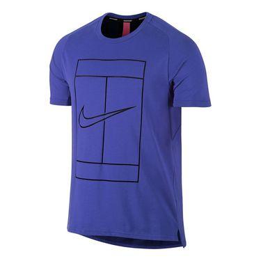 Nike Court Dry Swoosh Graphic Crew - Paramount Blue