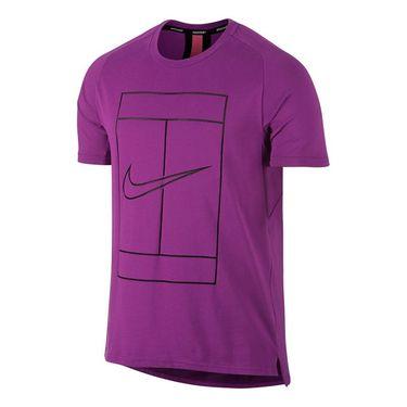 Nike Court Dry Swoosh Graphic Crew - Vivid Purple