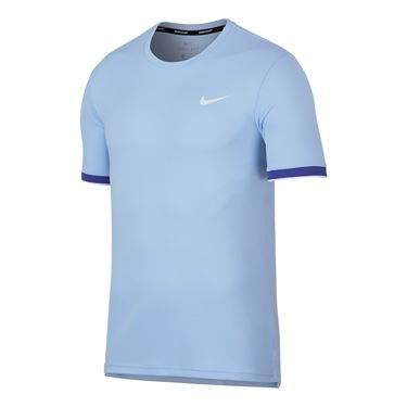 Nike Court Dry Team Crew - Hydrogen Blue
