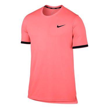 Nike Court Dry Team Crew - Lava Glow/Black