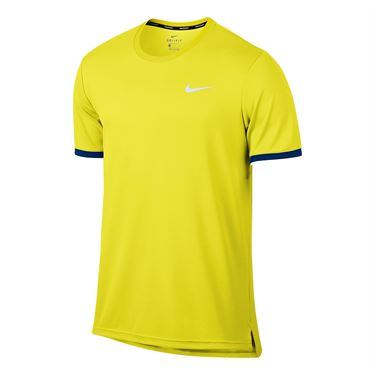 Nike Court Dry Team Crew - Sonic Yellow