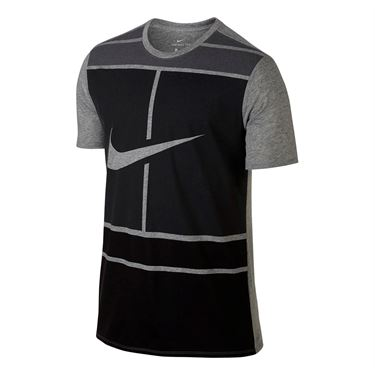 Nike Court Dry Tennis Tee - Dark Grey Heather