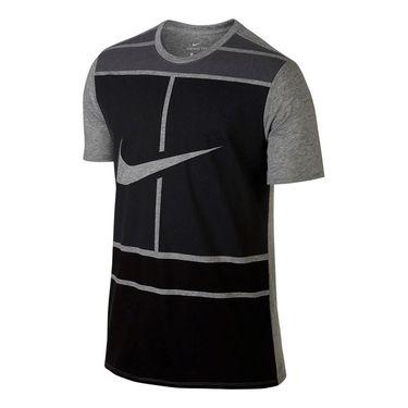 Nike Court Dry Tennis Tee - Dark Grey Heather