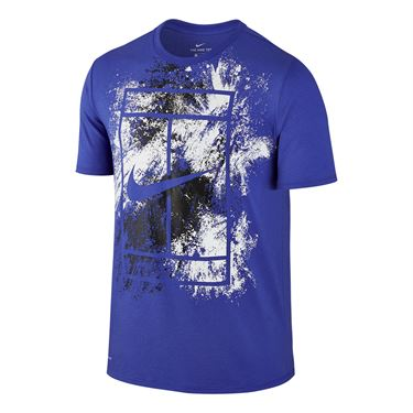 Nike Court Dry Graphic Tee - Paramount Blue