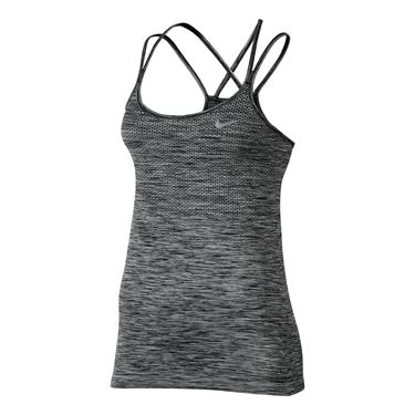 Nike Dri Fit Knit Strappy Running Tank - Black