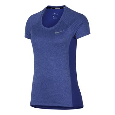 Nike Dry Miler Running Top - Purple Comet