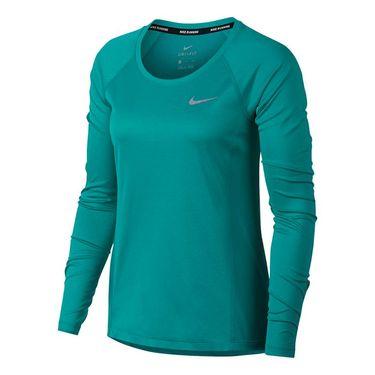 Nike Dry Miler Long Sleeve Top - Turbo Green