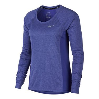 Nike Dry Miler Long Sleeve Top - Purple Comet
