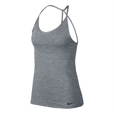 Nike Dry Miler Strappy Tank - Cool Grey