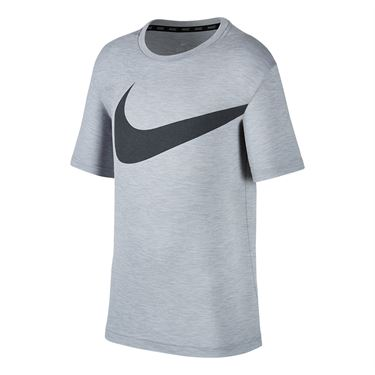 Nike Boys Breathe Training Crew - Pure Platinum