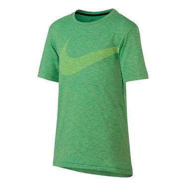 Nike Boys Breathe Training Crew - Ghost Green