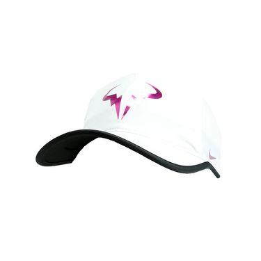 Nike Rafa Iridescent Featherlight Hat - White/Black/Fire Pink