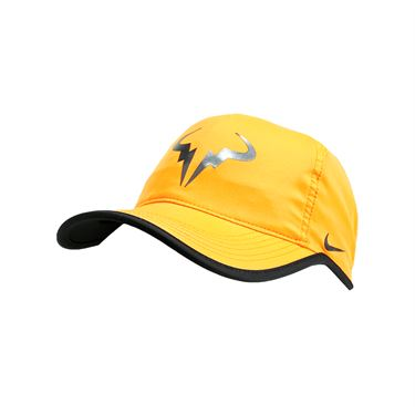 Nike Rafa Iridescent Featherlight Hat - Bright Citrus/Black