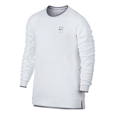 Nike Baseline Long Sleeve Crew - White