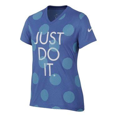 Nike Girls JDI Polka Dot Tee - Comet Blue