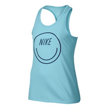 Nike Girls Graphic Dry Training Tank - Still Blue