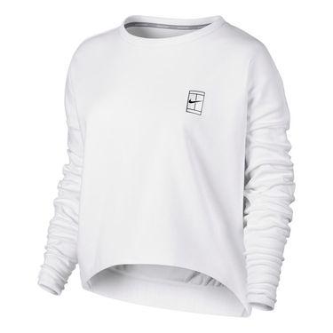 Nike Baseline Long Sleeve Top - White
