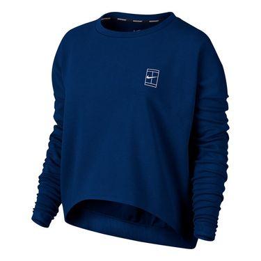 Nike Court Long Sleeve Top - Blue Jay