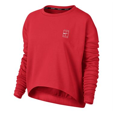 Nike Court Long Sleeve Top - Action Red