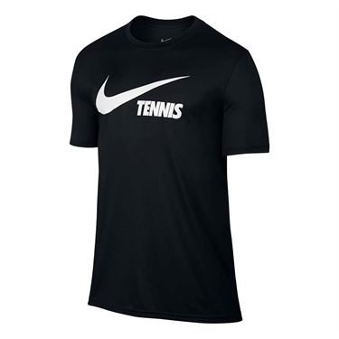 Nike Swoosh Tennis Tee - Black/White