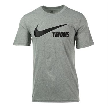 Nike Swoosh Tennis Tee - Dark Grey Heather