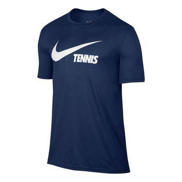Nike Swoosh Tennis Tee - Coastal Blue/White