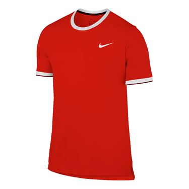 Nike Dry Team Crew - Scarlet Red