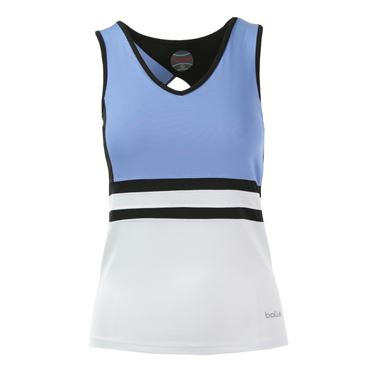 Bolle Seraphina Racerback Tank - White/Periwinkle Blue