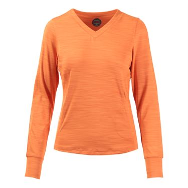 Bolle Gabriella V Neck Long Sleeve Top - Orange
