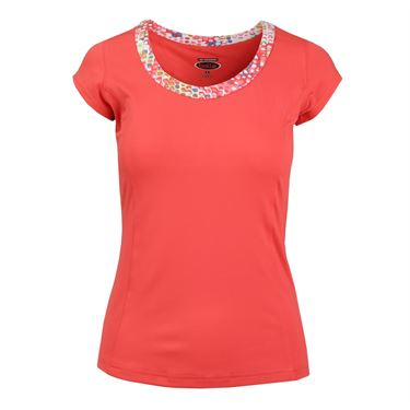 Bolle Confetti Cap Sleeve Top - Coral