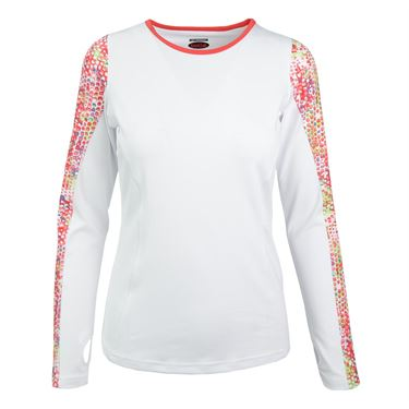 Bolle Confetti Long Sleeve Top - White