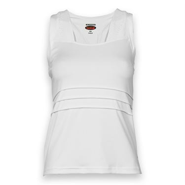 Bolle Club White Square Neck Tank - White