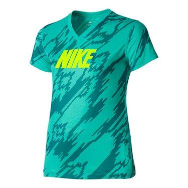 Nike Girls Legend Over Drive Tee - Hyper Jade