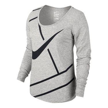 Nike Court Practice Tennis Top - Dark Grey Heather