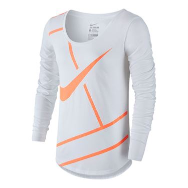 Nike Court Practice Tennis Top - White