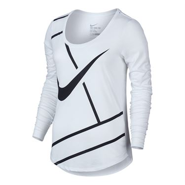 Nike Court Practice Tennis Top - White/Black